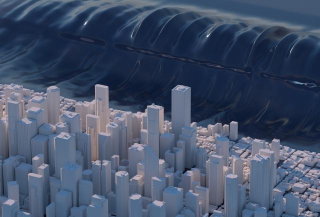 地震による巨大津波