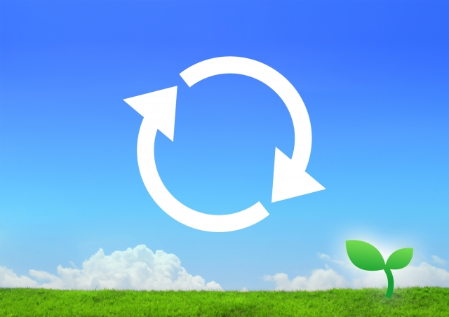 リサイクルのエコイメージ図
