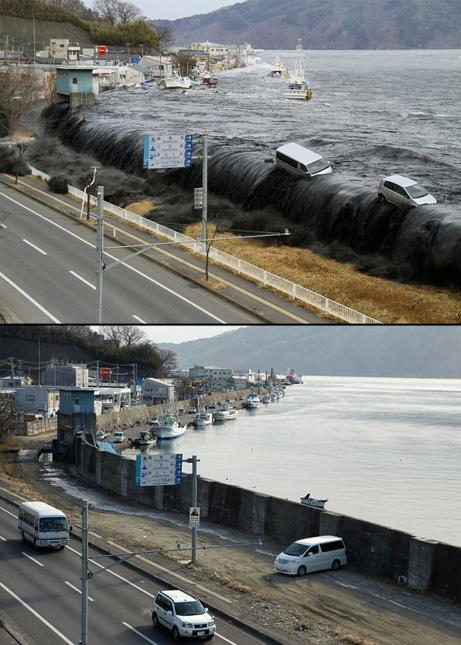 黒い津波画像