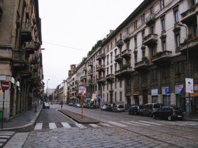 イタリアミラノ通り