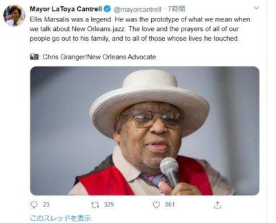 ラトーヤカントレル市長Twitter