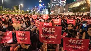 香港国家安全法に対する抗議デモ