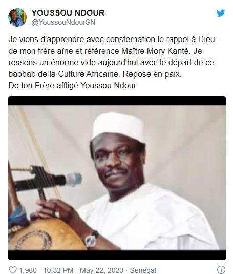 YoussouNdourTwitter投稿