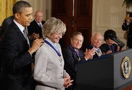 オバマ大統領とジーン・ケネディ