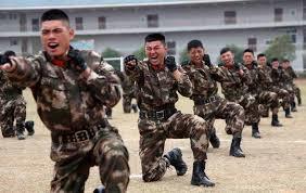 中国兵武術訓練