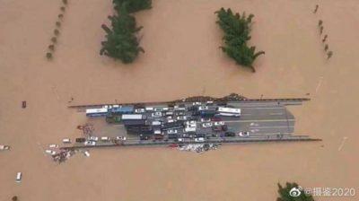 中国の洪水の様子