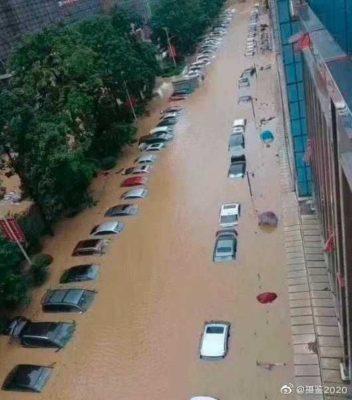 中国の洪水の状況