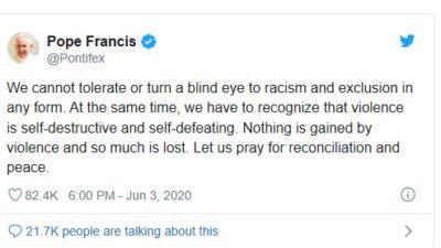 フランシスコ教皇twitter