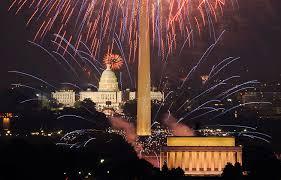 ホワイトハウスの花火