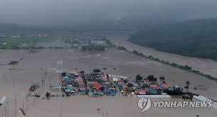 韓国洪水被害