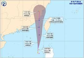 台風6号進路
