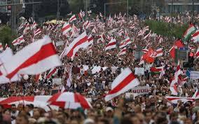 ベラルーシの大規模な抗議行動