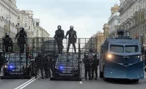 治安部隊の取り締まり