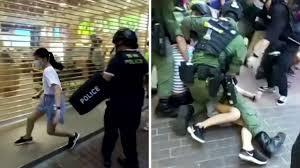 香港警察が12歳少女にタックルし検挙