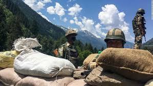 国境のインド軍