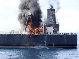 スリランカ沖タンカー火災