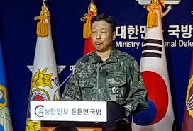 会見する韓国軍高官
