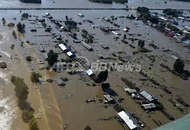 中国東北部洪水