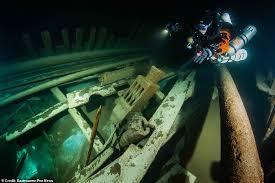バルト海で発見された400年前の船