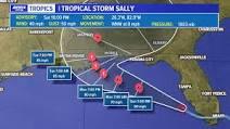 "A tropical cyclone ""Sally進路"