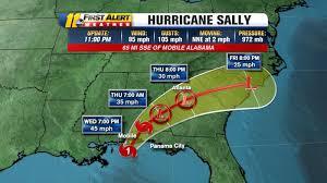 Hurricane Sally進路