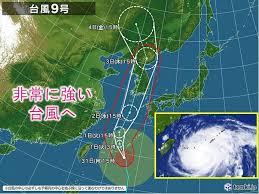 台風9号 (メイサーク)進路