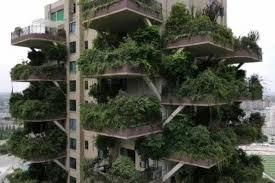 「垂直の森」という高層マンション群