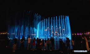 パーム・ジュメイラの噴水