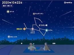 オリオン座流星群の活動がピーク