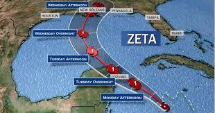 ハリケーン「ゼータ」進路