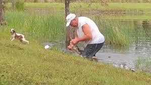 愛犬を救うため池に飛び込んだ男性