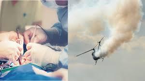 移植用の心臓を運ぶヘリコプター着陸失敗