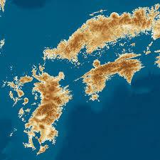日本列島がもし海面が100m上昇したらの地図
