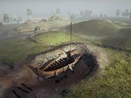 バイキング時代の船葬墓