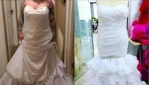 届いたウェディングドレスに「写真と違う」とクレーム