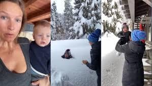 1歳児を積雪の中に投げた母親