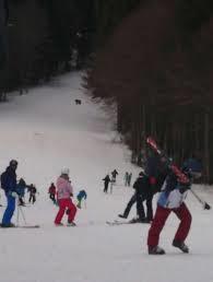 スキー場背後に迫るクマ