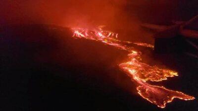 コンゴ民主共和国ニーラゴンゴ山が噴火した動画!