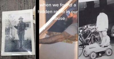 自宅壁に前住人からの贈り物を発見の女性はその写真に恐怖するカム・ミー(Kam Mee)の動画