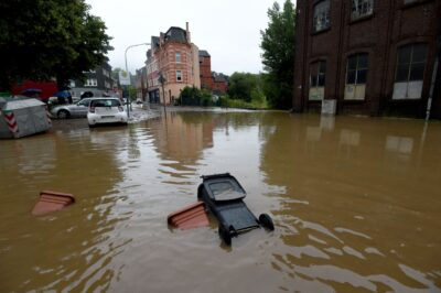 )ドイツ西部で豪雨による洪水が発生